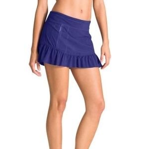 Athleta Purple Ruffle Athletic Skort